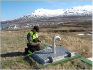 Manhole on a drinking water storage tank for the Town of Dalvik, North Iceland (photo: Gunnarsdottir)