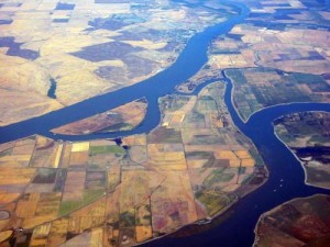 The Sacramento-San Joaquin river delta is a 2800 sq. km inland delta that hosts protected estuaries, agricultural lands and urban settlements.