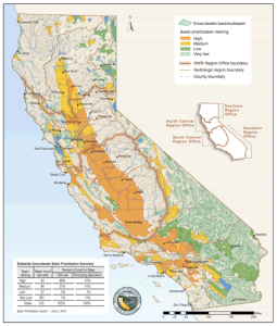 Map illustrating areas of prioritization. Source: California Department of Water Resources